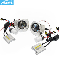 Ronan LHD/RHD 2.5 بوصة HID ثنائية زينون عدسة مصباح أمامي لجهاز الإسقاط عدة 4300k 5000k 6000k زينون HID طقم كامل H1 تصفيف السيارة