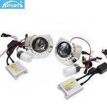 Ronan kit de faros para proyector, LHD/RHD, 2,5 pulgadas, bi xenón HID, 4300k, 5000k, 6000k, kit completo de Xenón HID, estilismo para coche H1