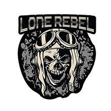 JDM – autocollant de casque de moto pour adulte, étiquette en vinyle, avec crâne et drapeau américain