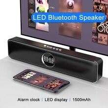 Altavoz Bluetooth Speakers LED Caixa De Som Amplificada Alarm Clock Home Theater Subwoofer