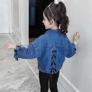 Image 5 - Benemaker ג ינס מעיל עבור בנות ילדים של ז אן בגדי מעיל רוח תינוק ילד ג ינס מעיל ילדה רקמת הלבשה עליונה ציצית YJ140