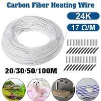 Cable de calefacción de fibra de carbono de alta calidad, cable de calefacción de 20-100m, para invernadero, 24K