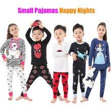 Пижама с лошадкой для девочек Детская Ночная рубашка в расцветке зебры, детский комплект одежды с единорогом, пижама с длинными рукавами для малышей, домашняя одежда для мальчиков