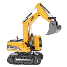2.4Ghz 6 Channel 1:24 RC Excavator Toy RC Engineering Car Alloy and Plastic RTR Excavator for Kids Christmas Gift