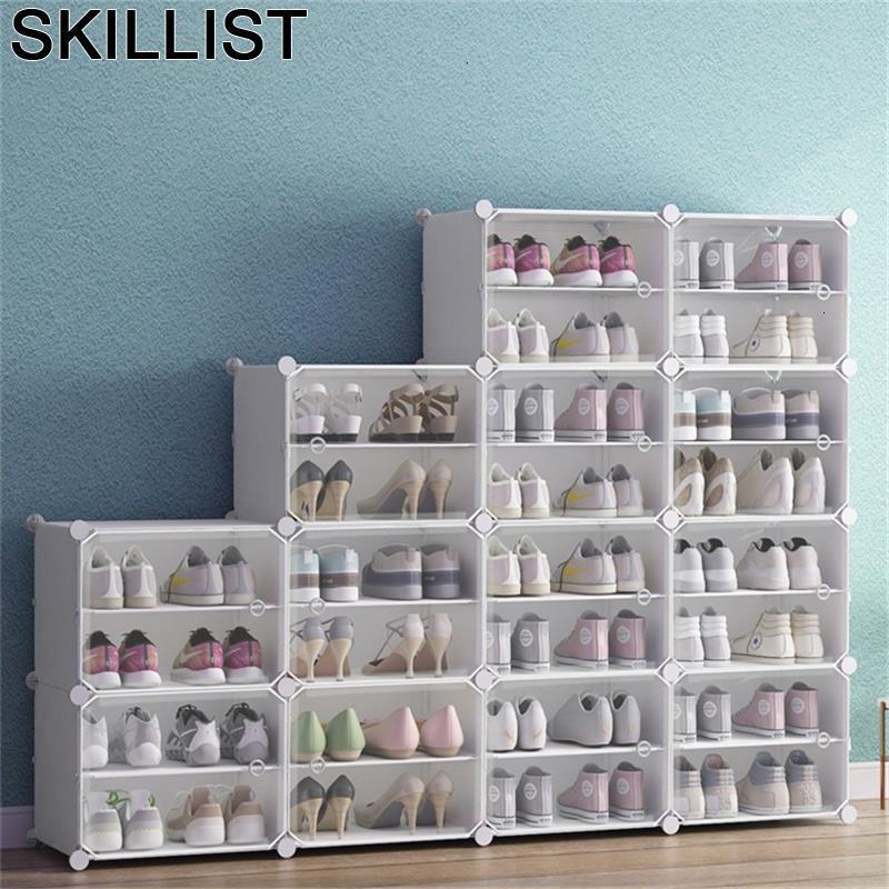 Schoenenrek font b Closet b font Organizador De Zapato Minimalist Kast Range Chaussure Rack Cabinet Sapateira