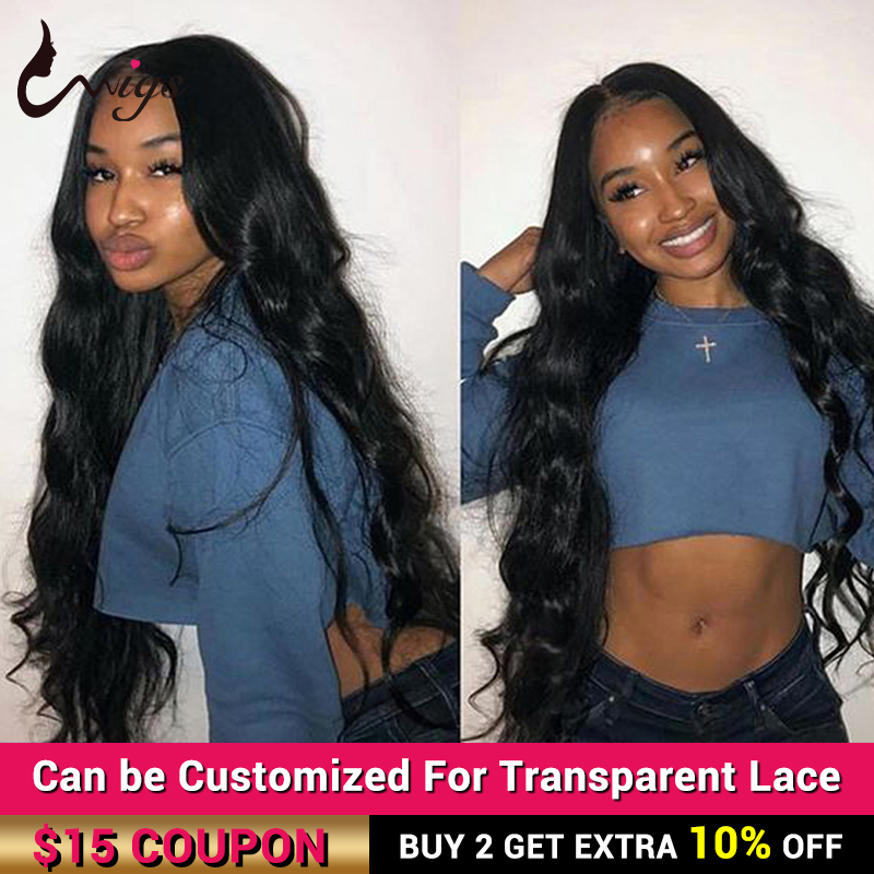 Uwigs Long Brazilian Body Wave Lace Front Wig 28 30 32 34 36 38 40 Inches Lace Front Human Hair Wigs Pre Plucked Remy Lace Wigs