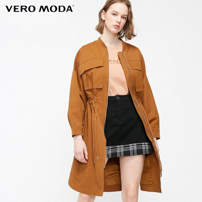 Vero Moda Women Mid-length Waist Drawstring Trench Coat   319121542