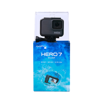Original GoPro HERO 7 Silver  Waterproof Digital Action Camera Touch Screen 4K HD Video 10MP Photos Go Pro Hero7 Sports Cam
