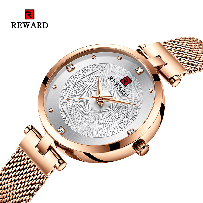 2019 REWARD Watch Women Luxury Fashion Casual Waterproof Quartz Watches Sport Clock Ladies Elegant Wrist watch Girl Montre Femme-in Women's Watches from Watches