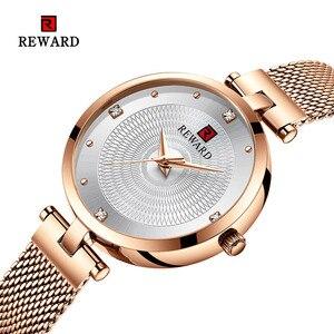 Image 1 - 2019 REWARD Watch Women Luxury Fashion Casual Waterproof Quartz Watches Sport Clock Ladies Elegant Wrist watch Girl Montre Femme