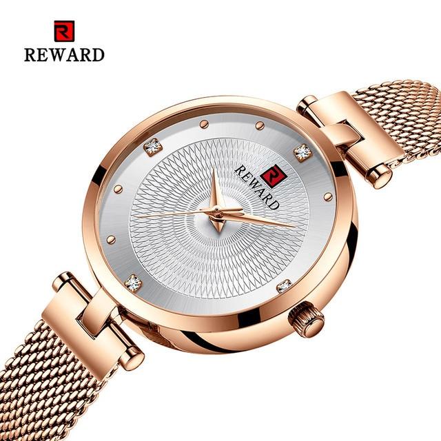 2019 REWARD Watch Women Luxury Fashion Casual Waterproof Quartz Watches Sport Clock Ladies Elegant Wrist watch Girl Montre Femme