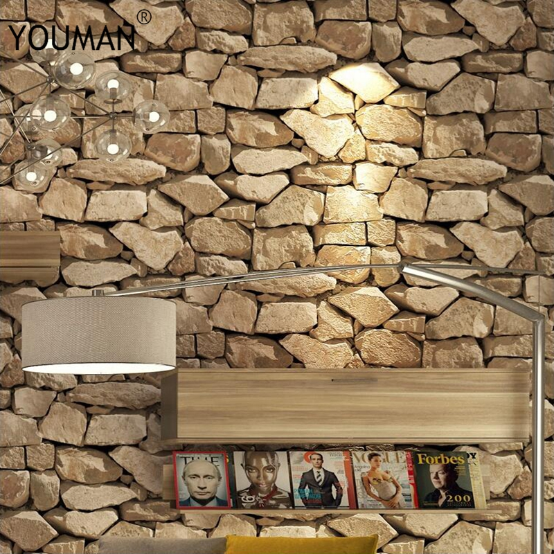Wallpaper 3D Retro Pvc Vinyl Wallpaper 3D Personality Stone Pattern Living Room Wall Decor Restaurant Waterproof 3D Wall Papers