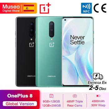 In Stock Global Version OnePlus 8 Snapdragon 865 5G Smartphone 6.55'' 90Hz AMOLED Screen 48MP Triple Cameras 4300mAh NFC