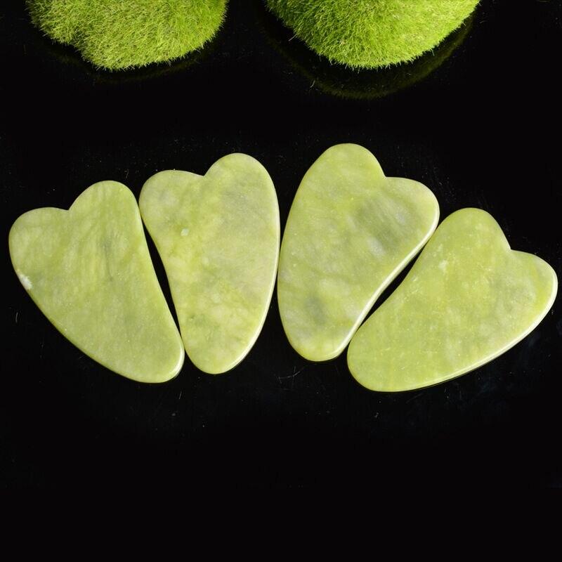 Jade Guasha deska do masażu kamień naturalny Gua Sha skrobak przyrząd kosmetyczny opieki zdrowotnej Meridian skrobanie płyta schudnąć masażer