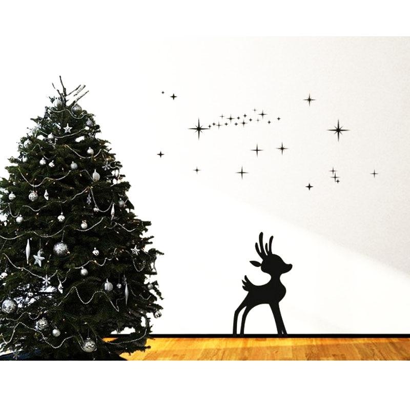 Christmas Wall Decals Merry  Snowflakes Reindeer Decor wall decal sticker muralvinyl art