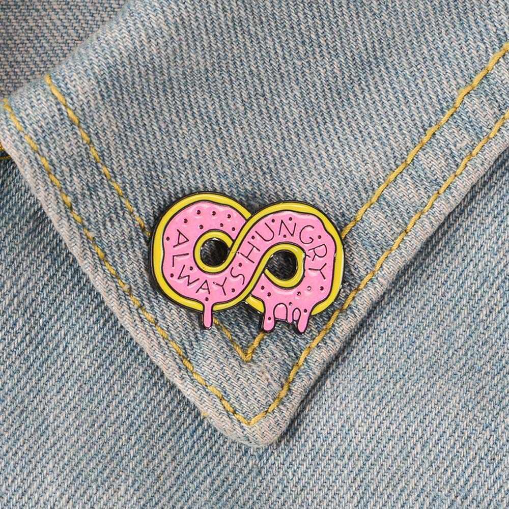 Luôn Luôn Đói Hồng Tặng Vàng MEN Thổ Cẩm Số 8 Huy Hiệu Pin Hợp Thời Trang Áo Len Áo Sơ Mi Vạt Áo Phụ Kiện Trang Sức
