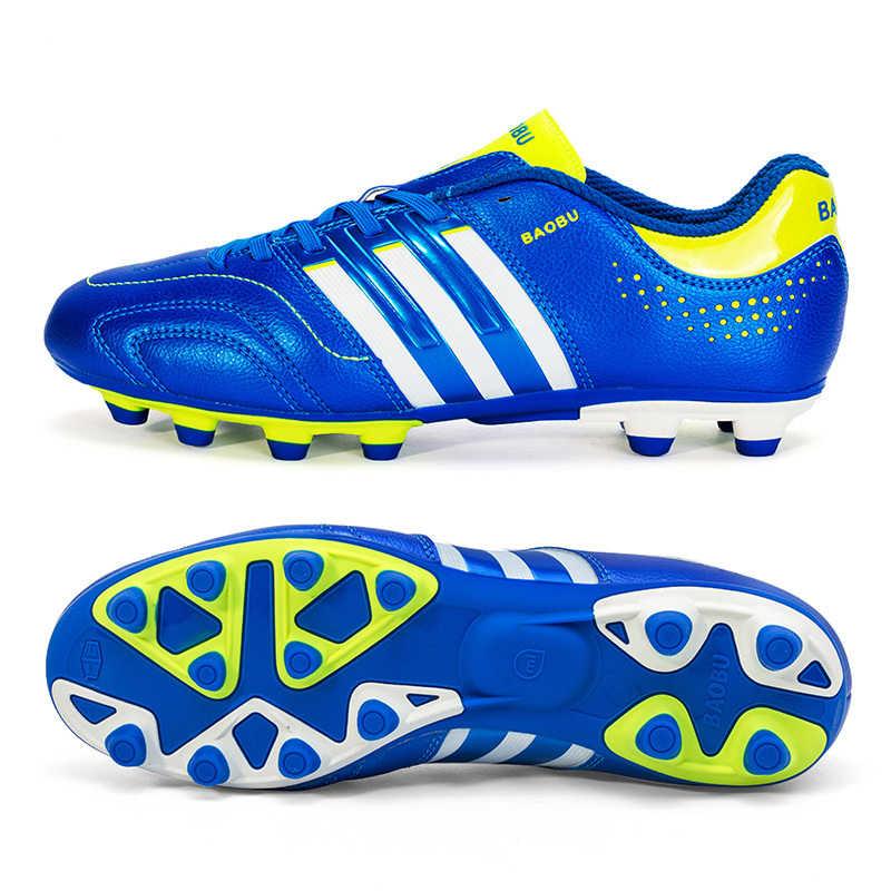 Açık Erkekler Erkek Futbol Ayakkabıları Çocuklar Cleats Uzun Sivri Eğitim Futbol spor ayakkabılar spor ayakkabılar Boyutu 35-44