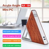 Acute Angle AA B4 DIY Mini PC Intel Apollo Lake N3450 Windows 10 8GB RAM 64GB EMMC 128GB SSD 2.4G 5.8G WiFi 1000Mbps BT4.0 PC