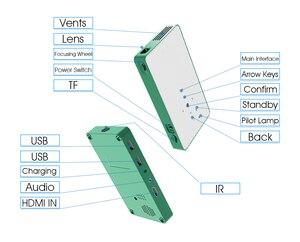 Image 3 - ALSTON Mini projektor HD P8 DLP projektor 80ANSI lumen leicht zu tragen hause 1080P projektor mit batterie video beamer