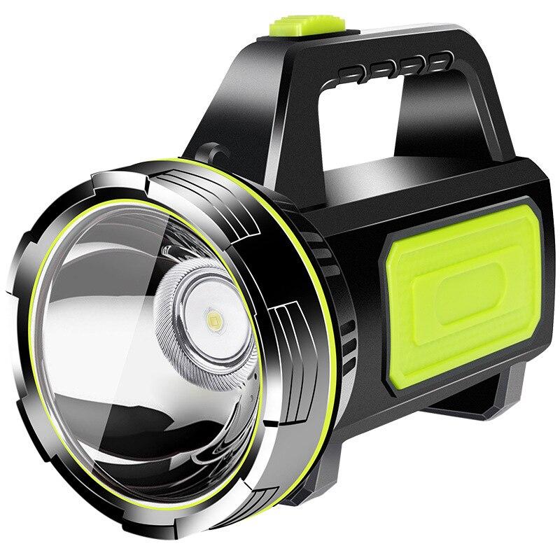 LED torche à main étanche Rechargeable travail lumière Camping lanterne lanterne lampe de poche bougie sécurité projecteur lampe
