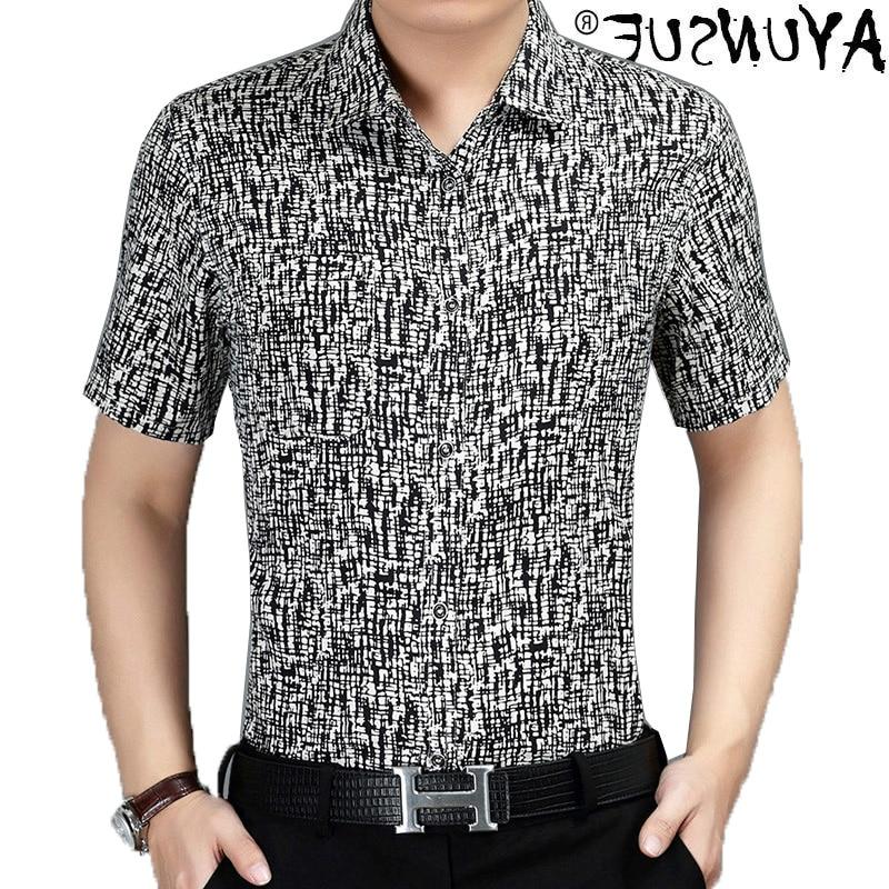 100% Silk men's shirt, Casual Short Sleeve Shirt, tight, 2010, kj1241