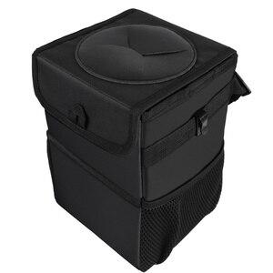 Portable Car Trash Can With Li