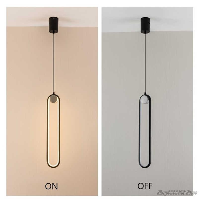 Einfache moderne anhänger lichter LED Nacht lampe wohnzimmer hintergrund wand hängen lampen wohnkultur geometrische linie leuchten