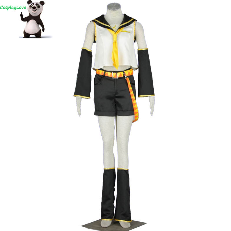 CosplayLove <font><b>Vocaloid</b></font> <font><b>Kagamine</b></font> <font><b>Rin</b></font> Cosplay Costume Custom Made For Halloween Christmas image