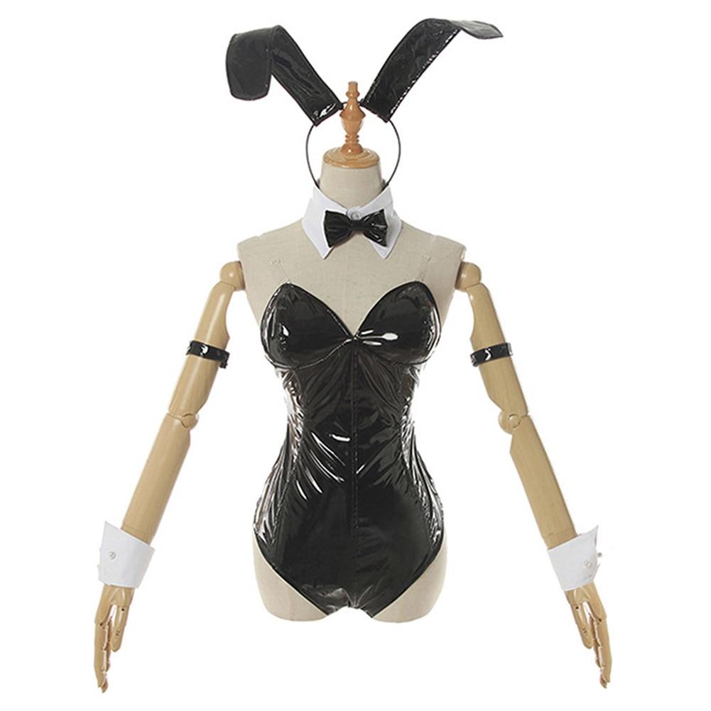 Schurke Nicht Traum von Bunny Mädchen Senpai-Sakurajima Mai Cosplay Kostüm Bunny Mädchen Overall Outfits Halloween Karneval Anzug