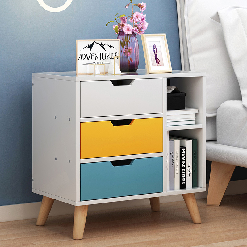 Northern European Style Bedside Table Minimalist Modern Small