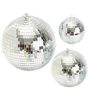 Thrisdar диаметр 15/20/25/30 см светоотражающее стекло, зеркальный диско шар, Рождественская свадьба, вечеринка, бар, диско, шар, сценический светиль...