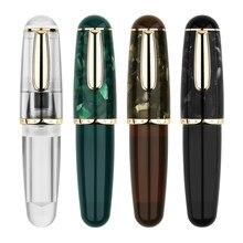 Nova moonman q1 mini acrílico caneta caneta caneta de tinta portátil transparente irídio ef/f nib palma curta escrita presente conjunto para viagens