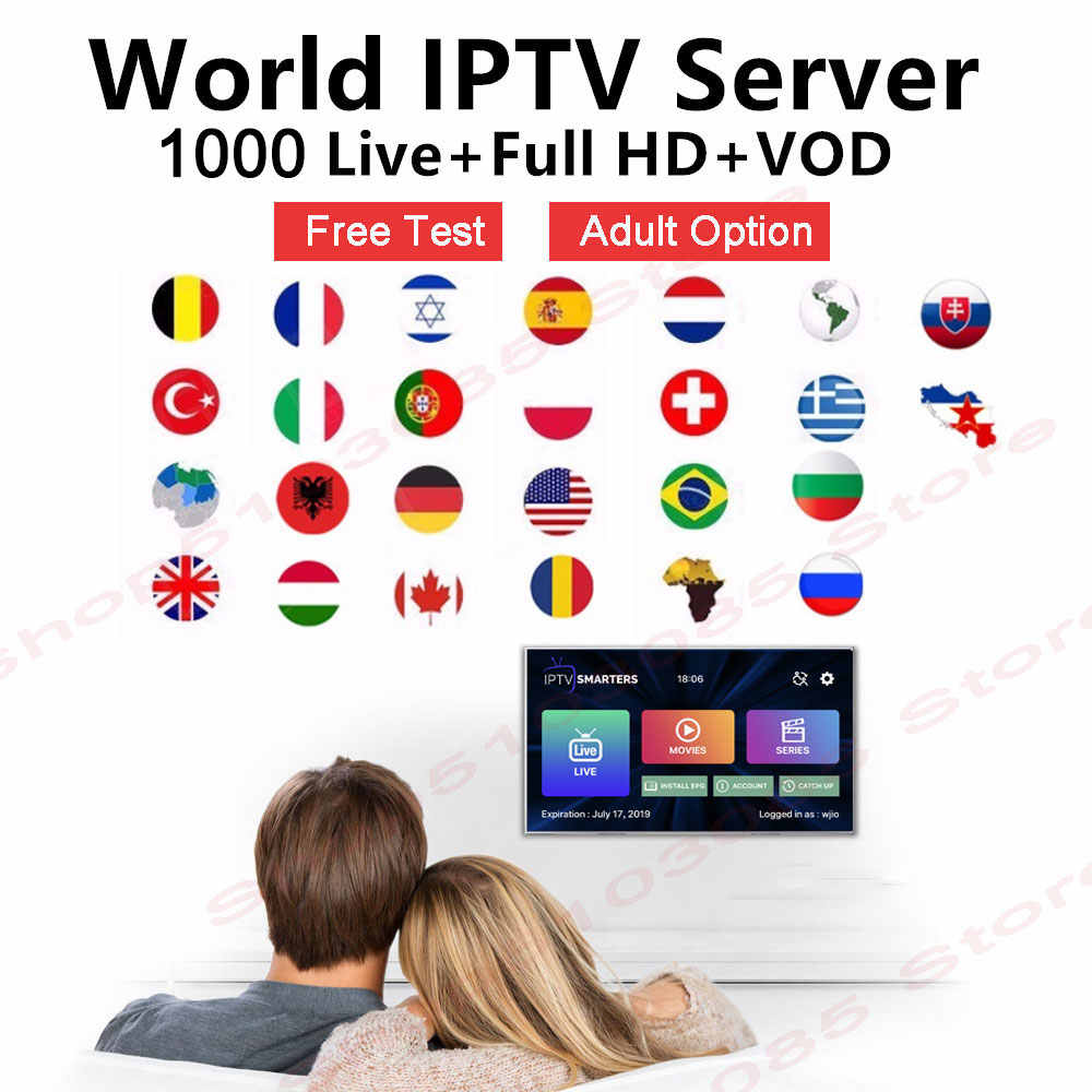 M3U IPTV Subscription arabic europe french italian IPTV 4K HD Channel For Android Box Enigma2 Smart TV