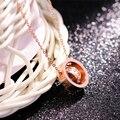 Laramoi ожерелья с подвесками из розового золота, женское короткое ожерелье из нержавеющей стали, цепочка до ключиц с цирконием, корейская мода...