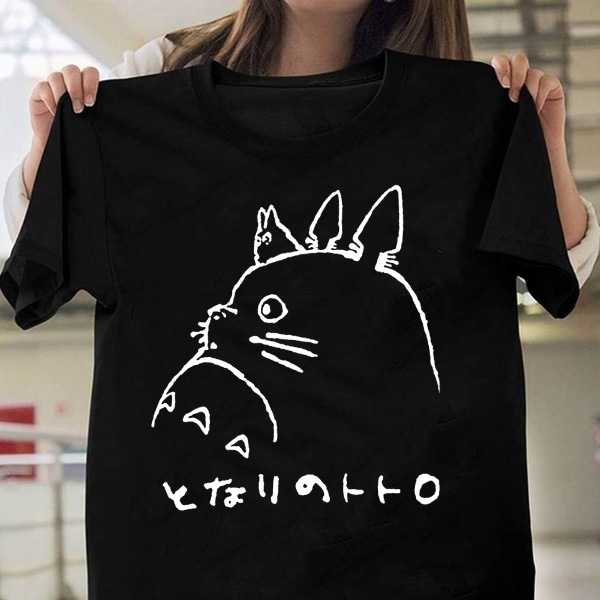 Unisex Kids Summer Shirt Retro Hippo Cartoon Anime T-Shirt