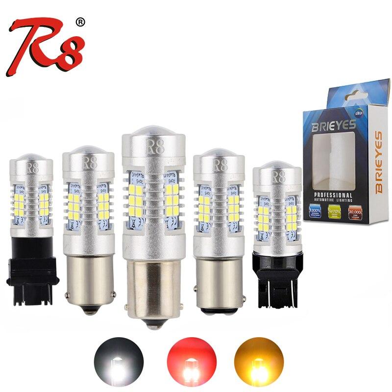 2 шт., автомобисветодиодный светодиодные сигнальные лампы 1156 1157 7443 P21/5W 3157 21SMD 2835 PY21W