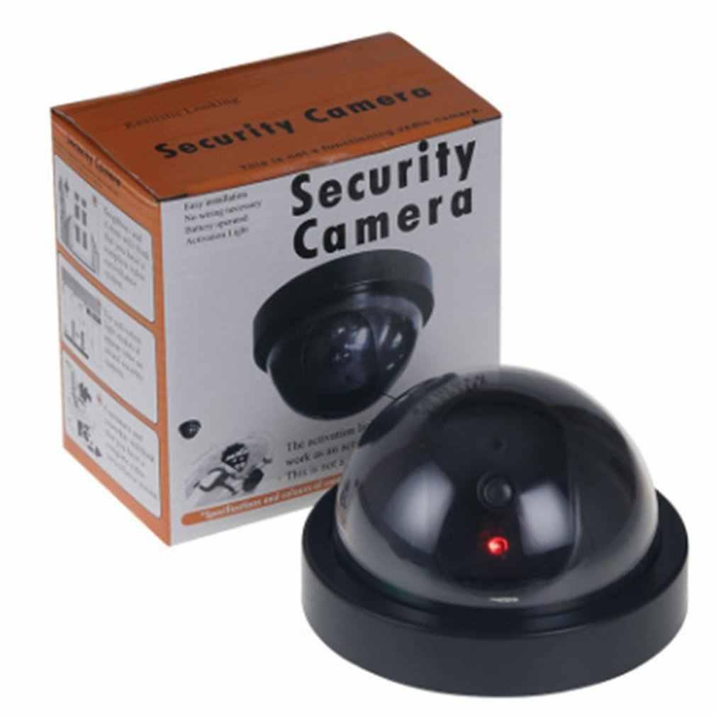 Dummyปลอมกล้องโดมในร่มกลางแจ้งจำลองกล้องการเฝ้าระวังความปลอดภัยภายในบ้านกล้องจำลองLed Monitor