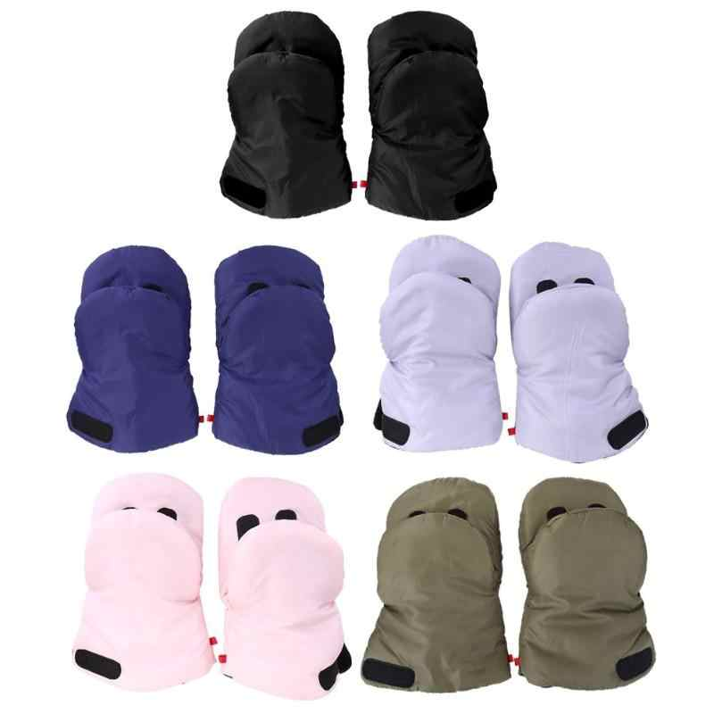 GeeRic Baby Stroller Hand Warmer with Phone Pocket Breathable Waterproof Windproof Gloves for Stroller Warm Muff Stroller Gloves 2pcs Baby Stroller Hook