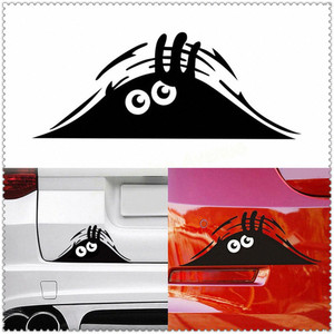 Car Stickers 3D Eyes Decal Black Peeking Monster for Volkswagen VW polo passat b5 b6 CC golf jetta mk6 tiguan Gol