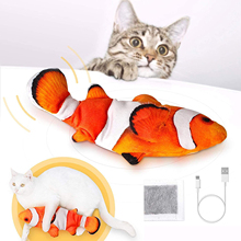 Electric Cat Fun Toy Movable Fish for Cat Kitten Interactive Realistic Flopping Doll