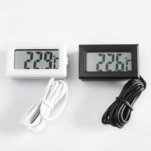 Mini Embedded Lcd Electronic Digital Display Fahrenheit Thermometer Fish Tank Refrigerator