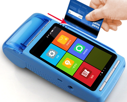 SIm card mobile credit bank visa card payment POS System terminal