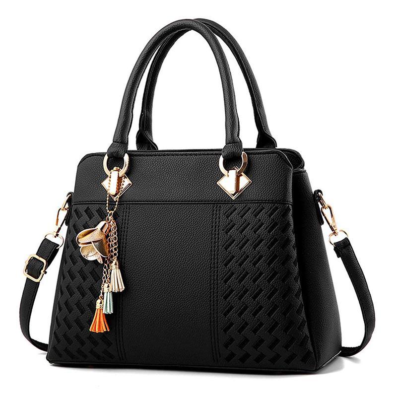 ASDS-Women Handbags Ladies Purses Satchel Shoulder Bags Tote Bag(Black)