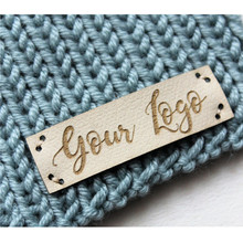 Label Clothes-Personalised-Product-Tags for Knitting with Brand Logo Crochet DIY Handcraft-Items