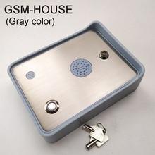 Darmowa wysyłka GSM Audio domofon dla pojedyncze drzwi domowe i otwieracz bramy kontroler dostępu DC12V wejście zasilania