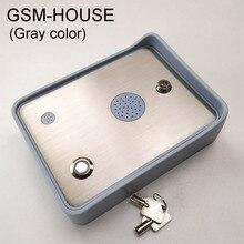 送料無料のgsmオーディオインターホン単一の家ドアとゲートオープナーアクセスコントローラDC12V電源入力