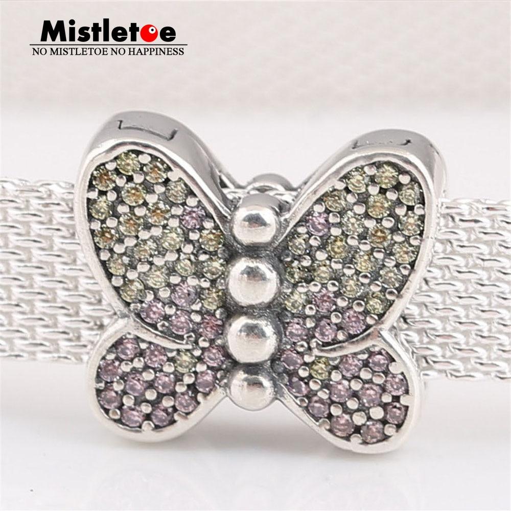 Sterling Silver Purple Enamel Butterfly Clip On Bead f// European Charm Bracelet