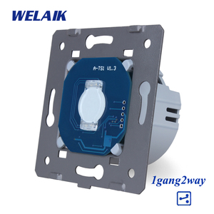 Image 3 - WELAIK מותג האיחוד האירופי מדרגות קיר מתג מגע מתג DIY חלקי מסך קיר אור מתג 1gang 2way AC250V A912