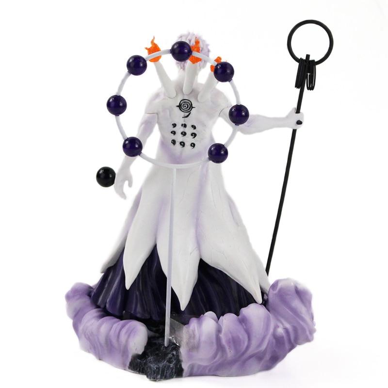 25-27cm Naruto Figure Statue Uchiha Obito Rikudou Sennin Decoration Toys PVC Collection Model Doll Gift 43
