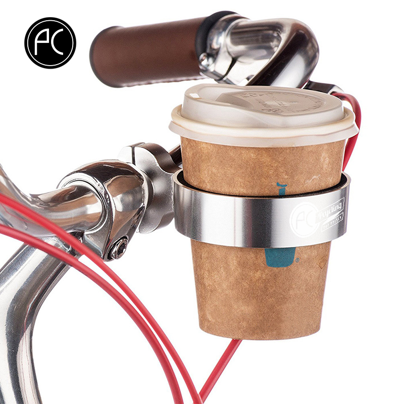 PCycling Bicycle <font><b>Bottle</b></font> Holder <font><b>Bike</b></font> Parts Coffee Cup Holder Tea Cup Holder Bicycle Bracket Aluminum <font><b>Bottle</b></font> <font><b>Cage</b></font> <font><b>Bottle</b></font> Holder image